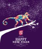 Szczęśliwy chiński nowy rok małpy trójboka 2016 kolor Obraz Royalty Free