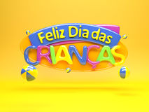 Szczęśliwy children dzień - Brazylia zdjęcia stock