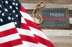 Szczęśliwy Columbus dzień united państwa bandery obraz royalty free