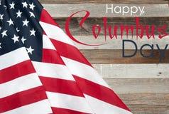 Szczęśliwy Columbus dzień united państwa bandery zdjęcia royalty free