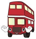 Szczęśliwy czerwony autobus ilustracji