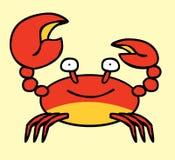 Szczęśliwy Czerwony Krab ilustracja wektor