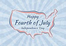 Szczęśliwy czwarty Lipiec i dzień niepodległości Fotografia Royalty Free