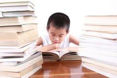 szczęśliwy czytanie Fotografia Stock