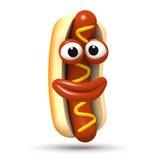 Szczęśliwy 3d hotdog ilustracji