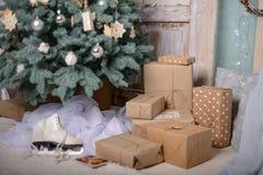 szczęśliwy dekoracja nowy rok wesołych dekoracji świątecznej Zdjęcia Stock