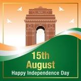 Szczęśliwy dnia niepodległości India sztandar Zdjęcia Royalty Free