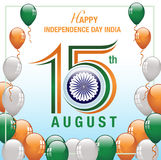 Szczęśliwy dnia niepodległości India sztandar Obraz Stock
