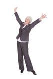 Szczęśliwy Dojrzały bizneswoman Zdjęcia Royalty Free