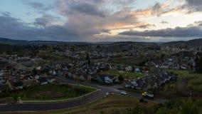 Szczęśliwy Dolinny Oregon przedmieścia czasu upływ 1080p zdjęcie wideo
