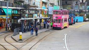 Szczęśliwy dolinny tramwajowy terminus, Hong kong fotografia stock