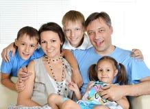szczęśliwy dom rodzinny Zdjęcia Stock