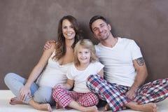 szczęśliwy dom rodzinny Obraz Royalty Free