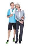 Szczęśliwy dorośleć pary w sprawność fizyczna ubiorze Fotografia Stock