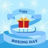 Szczęśliwy drugi dzień świąt bożego narodzenia pojęcia tło, mieszkanie styl ilustracji