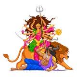 Szczęśliwy Dussehra z boginią Durga royalty ilustracja