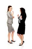 Szczęśliwy dwa bizneswomanu robi pięściom Fotografia Stock