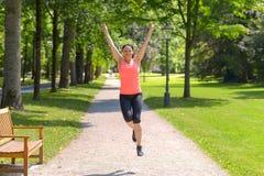 Szczęśliwy dysponowany kobieta doping, odświętność i obraz stock