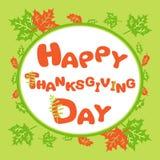 Szczęśliwy dziękczynienia kartka z pozdrowieniami Fotografia Royalty Free