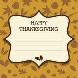 Szczęśliwy dziękczynienia zaproszenie Zdjęcia Stock