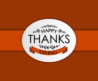 Szczęśliwy dziękczynienie dnia logotyp Obraz Stock
