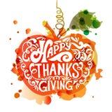 Szczęśliwy dziękczynienie dnia logotyp zdjęcie royalty free