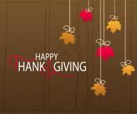 Szczęśliwy dziękczynienie dnia logotyp Fotografia Royalty Free