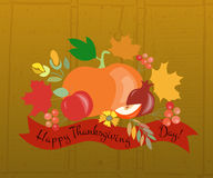 Szczęśliwy dziękczynienie dnia logotyp, odznaka fotografia stock