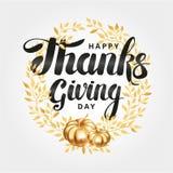 Szczęśliwy dziękczynienie dnia wianek ilustracja wektor