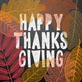 Szczęśliwy dziękczynienie dzień, jesień wakacje tło ilustracja wektor