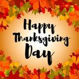 Szczęśliwy dziękczynienie dzień! Kartka z pozdrowieniami szablon ilustracji