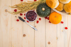 Szczęśliwy dziękczynienie - jesieni owoc dla dziękczynienia Zdjęcie Stock