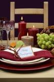 Szczęśliwy dziękczynienie klasyka stołu położenie Obrazy Stock