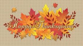 Szczęśliwy dziękczynienie liści spadku Tablecloth ilustracji