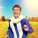 szczęśliwy działający nastolatek Zdjęcie Royalty Free