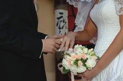 szczęśliwy dzień ślub Zdjęcie Stock