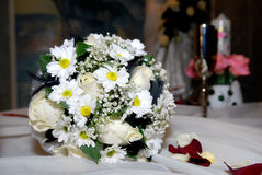 szczęśliwy dzień ślub Zdjęcia Royalty Free