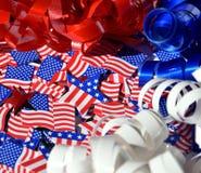 Szczęśliwy dzień niepodległości, świętowanie, patriotyzm i wakacje pojęcie, Zdjęcia Royalty Free