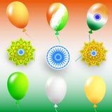 Szczęśliwy dzień niepodległości India, Wektorowa ilustracja, ulotka projekt dla 15th Sierpień Obrazy Stock