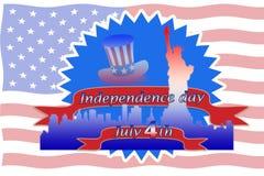 Szczęśliwy dzień niepodległości, Lipiec 4th Zdjęcia Stock