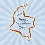 Szczęśliwy dzień niepodległości w Kolumbia Obrazy Stock