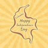 Szczęśliwy dzień niepodległości w Kolumbia royalty ilustracja