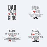 szczęśliwy dzień ojciec royalty ilustracja