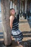 Szczęśliwy dzień przy plażą Fotografia Royalty Free