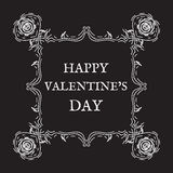 szczęśliwy dzień valentine s Rocznik, retro styl Zdjęcia Royalty Free