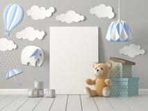Szczęśliwy dzieciństwo, 3D rendering Zdjęcie Stock