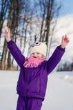 Szczęśliwy dzieciak cieszy się zima czas Obraz Royalty Free