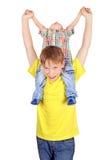 Szczęśliwy dzieciak i chłopiec Zdjęcie Royalty Free