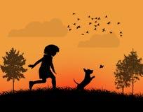 Szczęśliwy dzieciaka bawić się Obraz Royalty Free
