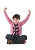szczęśliwy dziecka obsiadanie Obrazy Stock